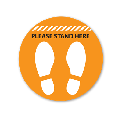 Please Stand Here Floor Graphics - Circle