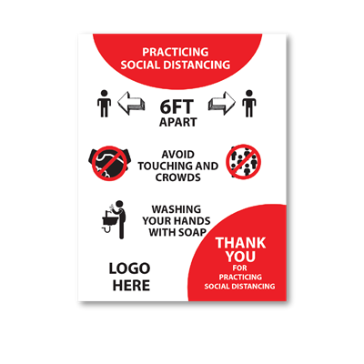 Practice Social Distancing - Wall Graphic
