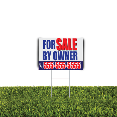 For Sale By Owner Yard Sign 2pc