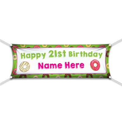 Happy Birthday Donut Banner