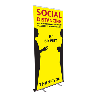 Social Distancing - Roll Up Banner