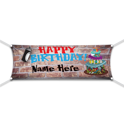Happy Birthday Graffiti Banner