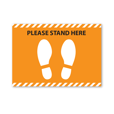 Please Stand Here Floor Graphics - Rectangle