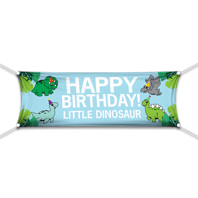 Happy Birthday Little Dinosaur Banner