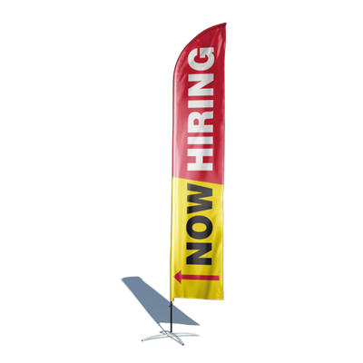 Now Hiring 12ft Feather Flag